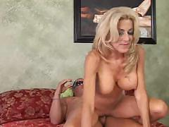 This mature blonde loves getting the cock in any position