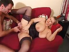 Big ass British amateur Tanya sucks and gets fucked on couch