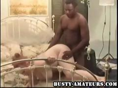 Busty amateur Fiona getting banged by big black cock