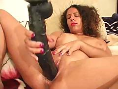 Big boob chubby sucks on a black cock before he fucks her
