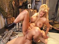 Hot mature bitch gives this soldier some hot sucking and fucking