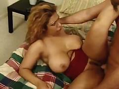 Nice looking Colombian babe sucks and fucks a hard, long cock