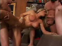 Vicky gets nailed by a couple of cocks and gets double penetrated
