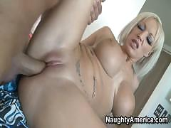 Big Boobed Blonde Sucking And Fucking Fanatically