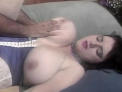 She is a brunette slut who has big breasts that no man can resist....