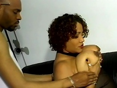 Be amazed with this Black slut pair of saggy, gigantic melons of...