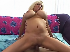 Breasted Blonde MILF Getting Her Tigh Pussy Drilled & Milked...