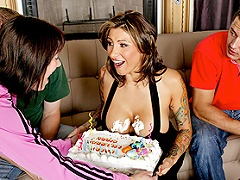 It's Ricki's birthday and before she blows out the candles on her...