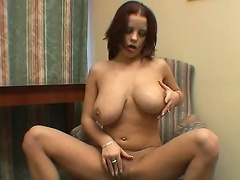 Get caught up in the action as this mega-boobed floozy gorges her hot...