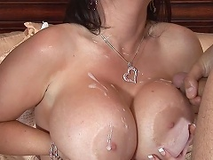 Daphne Rosen takes on two of our massive cocks at the same time. ...