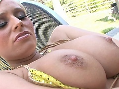 Angelina Ash is a hot blonde with a big natural rack whos a real...