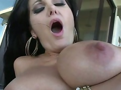 Voodoo fucking Avva from behind while her massive breasts jiggle!...
