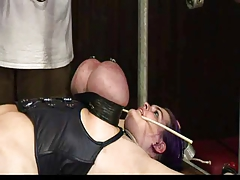 Bdsm big tits tied up