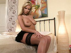 Raylene Richards with natural big boobs Zuzana gives us an all-inclusive tease