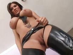 Huge Tits Slut Deepthroats 4 Big Cocks