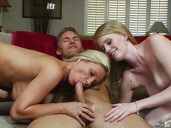 Devon Lee and Allie James seducing one man
