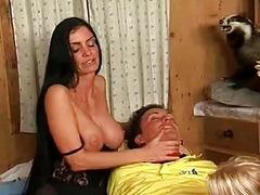 Threesome ffm action
