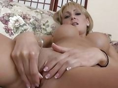 Hot milf Josilyn plays with a little vibrator