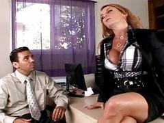 Today my big tits boss fucking me in her office