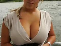 Huge tits amateur paid for public sex