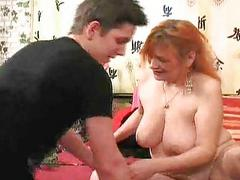 Mature woman seduces young stud 1/3