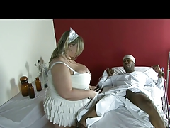 Chubby Blonde Fetish-Slut takes BBC in Hospital