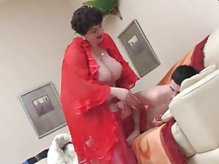 BBW Wakes a Teen Boy and Fucks by TROC