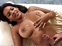 Big Titted Indian Chick Likes White Cock
