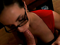 Horny Boss Wants A Cock In Her Mouth!!!!!!!