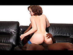 Cute Petite French Girl fucks Huge Black Cock