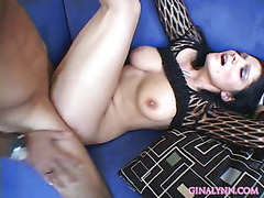 Johnny Irons fucks the shit out of Lacey Leoni and cums all over her huge natural titties.