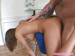 Eve Lawrence Gets Her Face Covered In Cum After Cowgirl Sex!