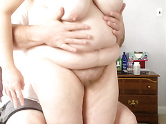 feeling her soft hairy pussy, soft tits, bbw body