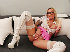 Blonde Nerd With Glasses JOI