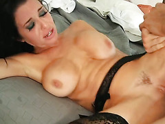 Brunette MILF with Big Tits - Hard Fucking