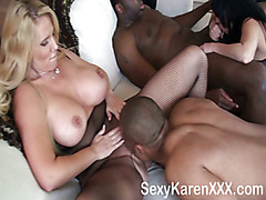Three Hot Milf's and Two Big Black Cocks Part 1 Video