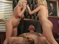 FFM Threesomes with Blonde MILFs