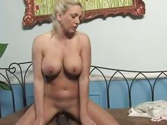 busty blonde milf on a big black cock