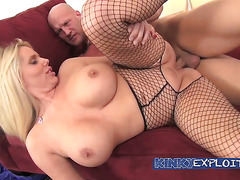 I fuck busty Karen Fisher in her fishnets†-†Movies