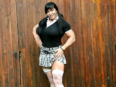 Huge FBB in Schoolgirl Outfit