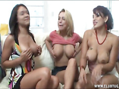 Three Girl Cum Coax