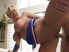 Stacked Cheerleader Slut Gets Her Pussy Banged Hardcore