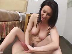 Brunettes takes full care of his friend