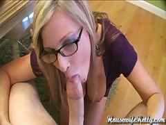 Housewife with Perfect Tits Sucks, Fucks, and Swallows