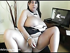 Massive chested French Maid