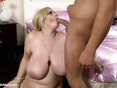 Pregnant Pornstar Tiffany Blake Gets Fucked By 2 Huge Cocks