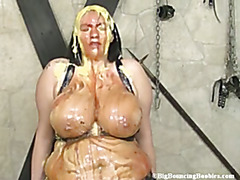 Simone covered in Mess
