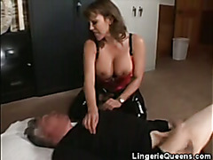 Busty Babe In Latex Cock Sucks And Gets Pussy Licked