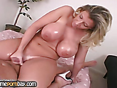 Busty mature slut playing with my dick 4