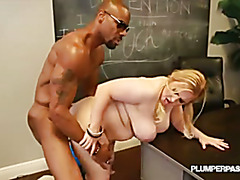 Busty BBW Nikky Wilder takes on her first Big Black Dick